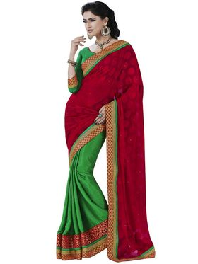 Pack of 2 Bahubali Embroidered Sarees - GAL887