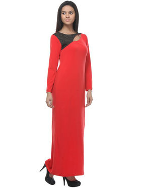 Kaxiaa Poly Elastane Solid Dresses -K-DR-31138A