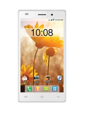 Intex Cloud Power Plus 5 Inch Android OS, 5.0,Lollipop OS - White & Champagne