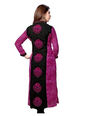Ishin Embroidered Georgette Kurti - Multicolour_ASHR-Kaalindi