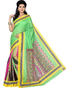 Pack of 2 Ishin Bhagalpuri Silk Printed Saree - Combo-416
