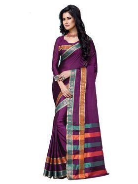Ishin Cotton Embroidered  Saree - Multicolour-MFCS-Kalki