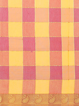 Ishin Banarasi Poly Silk Saree - Orange