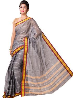 Ishin Cotton Printed Saree - Grey - SNGM-2443