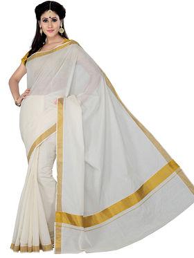 Ishin Cotton Printed Saree - Off White - STCS-2137