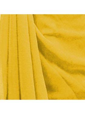 Khushali Fashion Georgette Plain Saree(Yellow)_JAZZ515