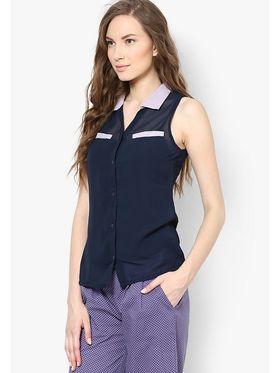 Kaxiaa Georgette Plain Womens Shirt -K-944B