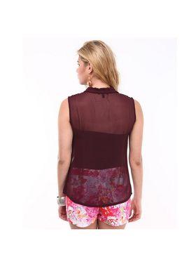 Kaxiaa Georgette Plain Womens Shirt -K-947D