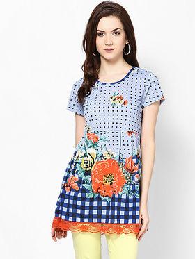 Kaxiaa Cotton Jersey Printed Tunic -K-957B