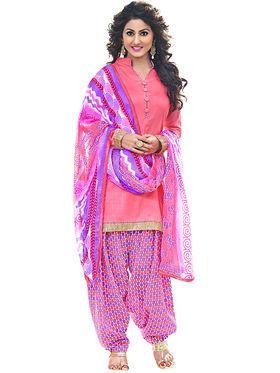 Combo of 5 Khushali Fashion Chiffon Cotton Georgette & Chanderi Unstitched Dress Material -Kfcmbo004