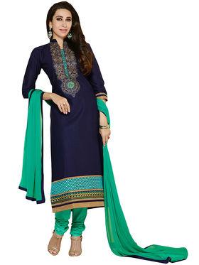 Khushali Fashion Cotton Embroidered Unstitched Dress Material -KRSH4357