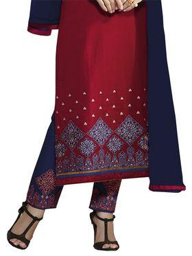 Khushali Fashion Cotton Embroidered Unstitched Dress Material -KRSH4364