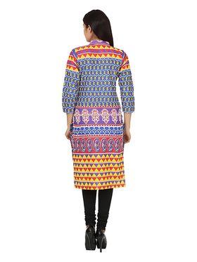 Arisha Cotton Printed Kurti KRT6013lti-Rd
