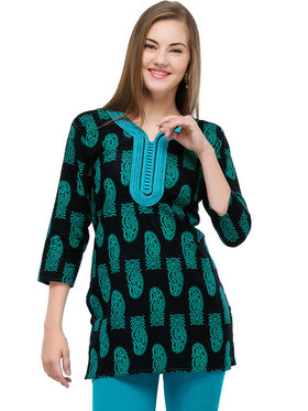 Arisha Cotton Printed Kurti KRT6030_Grn