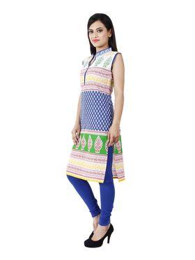 Arisha Cotton Printed Kurti KRT6033_Blu