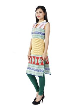 Arisha Cotton Printed Kurti KRT6033_Ylw