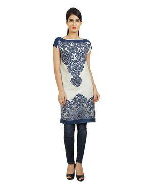 Arisha Cotton Printed Kurti KRT6035_Blu