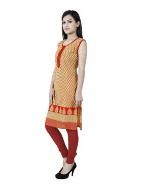 Arisha Cotton Printed Kurti KRT6036_Ylw