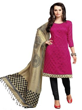 Khushali Fashion Chanderi Self Unstitched Dress Material -KTRL4005B