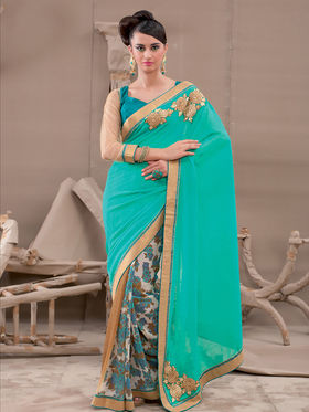 Viva N Diva Georgette Embroidered Saree Kanvi-2256
