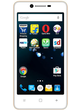 Karbonn Titanium S35 Android Lollipop, Quad Core Processor with 1GB RAM & 8GB ROM - White&Gold