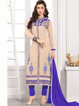 Viva N Diva Semi Stitched Georgette Embroidered Suit Kesa-22