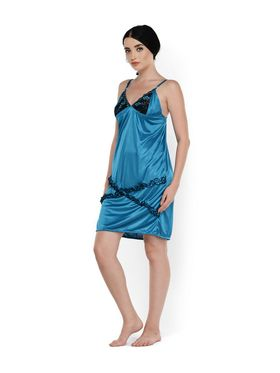 Set of 2 Klamotten Satin Solid Nightwear - X03-131