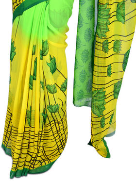Pure Elegant Collection of 7 Printed Georgette Sarees (7G19)