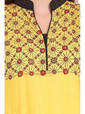 Kyla F Ryon Printed Kurti - Yellow - KYL5001