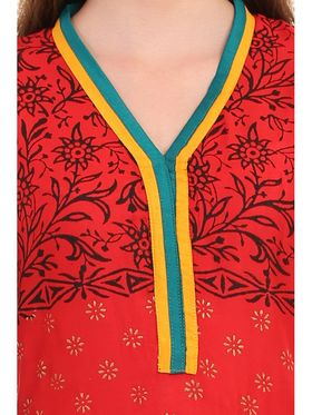 Kyla F Ryon Printed Kurti - Yellow - KYL5009