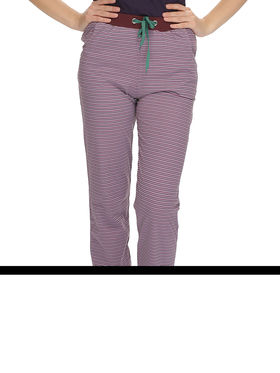 Clovia Cotton Striped Pyjama -LB0017P12
