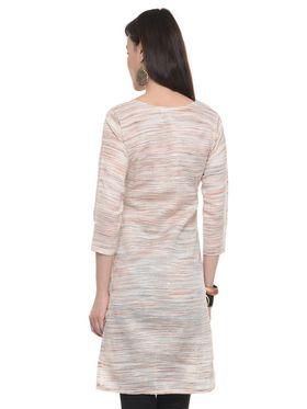 Lavennder Khadi Striped Kurti -LK-62157