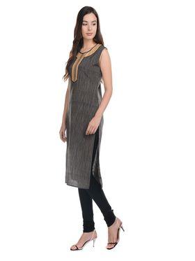 Lavennder Khadi Striped Kurti -LK-62338