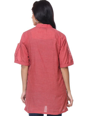 Combo of 3 Lavennder Georgette & Cotton Hand Blocked Solid & Printed Ladies Shirts-la01