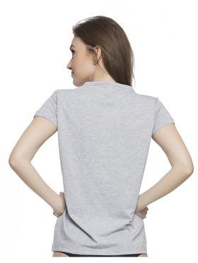 Clovia Cotton Lycra Printed T-Shirt -LT0010P01
