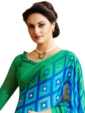 Khushali Fashion Printed Georgette Saree -kf01