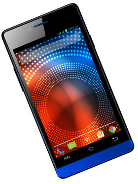 Lava Iris 444 Android KitKat 4-inch Dual Sim Smartphone - Black & Blue