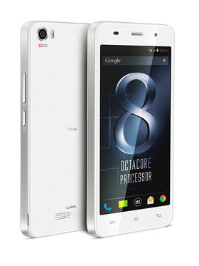 Lava Iris X8- White 5 Inch HD IPS Display, Update to Lollipop, 1.4 Ghz Octa-Core Processor, 2 GB RAM, 16 GB ROM