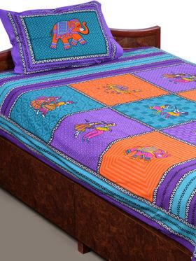 Rangbirang Rangoli 4 Double & 4 Single Bed Sheets with 12 Pillow Covers