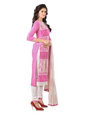 Khushali Fashion Glaze Cotton Embroidered Dress Material -Mcrdmhk807