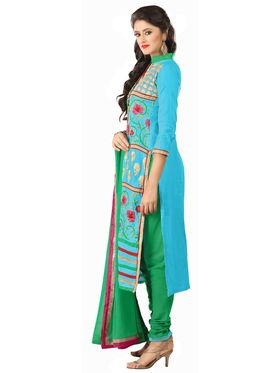 Khushali Fashion Glaze Cotton Embroidered Dress Material -Mcrdmhk813