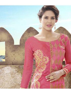 Viva N Diva Semi Stitched Chanderi Silk Embroidered  Dress Material Mariyaam-1002