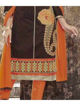 Viva N Diva Chanderi Silk Embroidered Unstitched Dress Material Mariyaam-1003