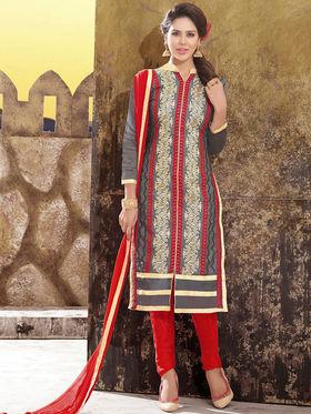 Viva N Diva Chanderi Silk Embroidered Unstitched Dress Material Mariyaam-1004