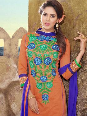 Viva N Diva Chanderi Silk Embroidered Unstitched Dress Material Mariyaam-1005