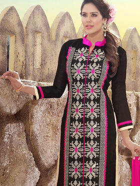 Viva N Diva Chanderi Silk Embroidered Unstitched Dress Material Mariyaam-1007