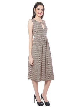 Meira Printed Poly Crepe Women's Dress - Multicolour _ MEWT-1145-Multi