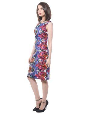 Meira Printed Poly Crepe Women's Dress - Multicolour _ MEWT-1185-B-Multi