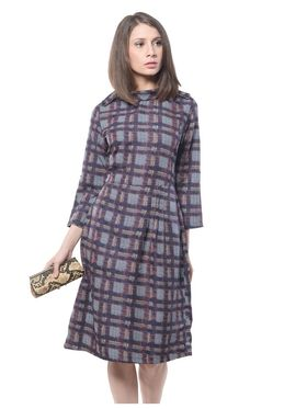 Meira Printed Poly Crepe Women's Dress - Multicolour _ MEWT-1094-B-Multi