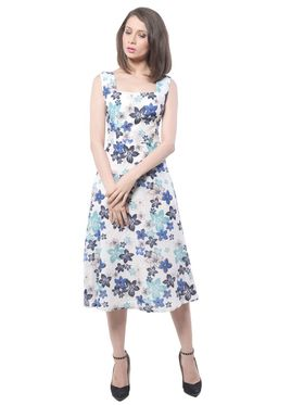Meira Printed Poly Voile Women's Dress - Multicolour _ MEWT-1064-D-Multi